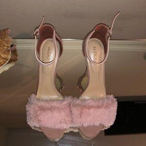 Aldo Pink Fur Heels